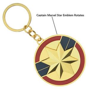 Captain Marvel Spinning Key Chain