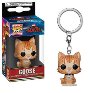 Captain Marvel Goose the Cat Pocket Pop! Key Chain