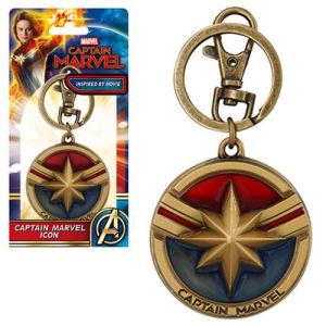 Captain Marvel Pewter Key Chain