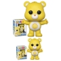 Care Bears Funshine Bear Pop! Vinyl Figure. Measures 3.75 inches tall. The stylized figure has a rotating head and comes in a displayable window box. Ages 3 and up.