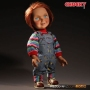 Childs Play 15 Inch Mega Scale Good Guys Chucky Talking Doll. Every detail of his iconic outfit has been replicated: from his classic coveralls and shirt, to the unique imprint of the soles on his sneakers.