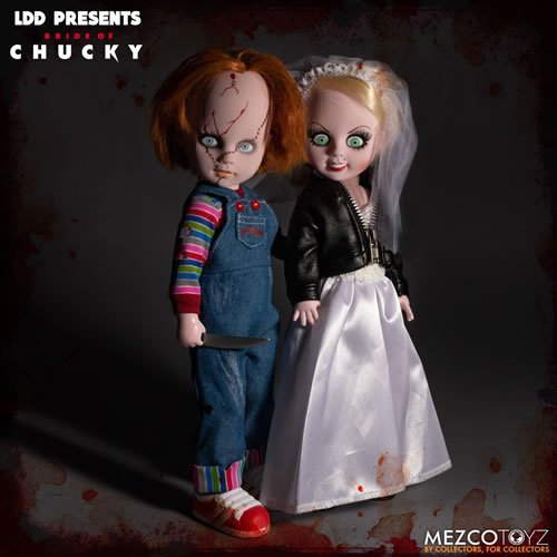Chucky And Tiffany Box Set Living Dead Dolls. Dolls measure 10 inches tall.