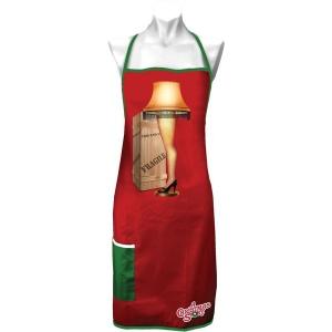 A Christmas Story Leg Lamp Apron with Pocket