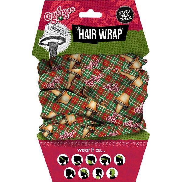 A Christmas Story Leg Lamp Hair Wrap.