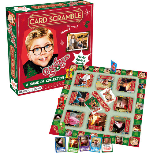 A Christmas Story Card Scramble Board Game.