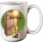 A Christmas Story Leg Lamp 12 Ounce Ceramic Mug.
