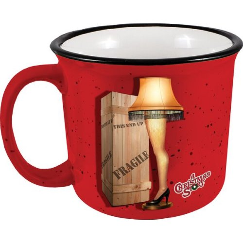 A Christmas Story Leg Lamp Camper Mug.