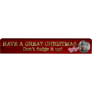 A Christmas Story Long Wood Sign