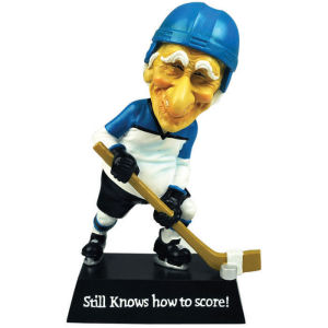 Coots Still Knows How to Score Hockey Bobble Figurine