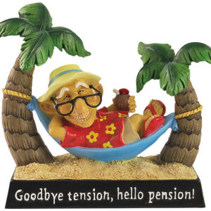 Coots Goodbye Tension Hello Pension! Figurine
