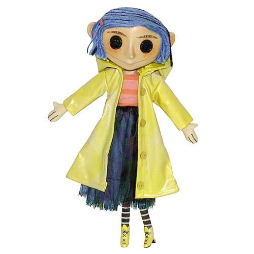 Coraline 10 Inch Doll Prop Replica. This detailed replica of Coralines doll comes from the stop-motion movie adaptation of Neil Gaimans fun and spooky book. It lovingly reproduces the doll as seen in the film,