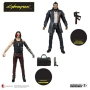 Cyberpunk 2077 7 Inch Scale Action Figure Assortment. Features Keanu Reeves as Johnny Silverhand in his iconic outfit, and Takemura from the Cyberpunk 2077 Video Game.