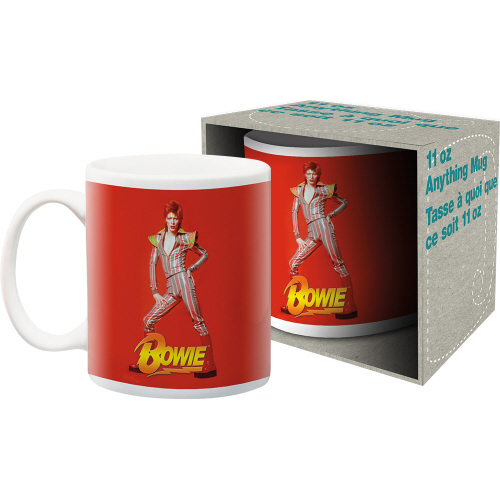 David Bowie Red 11 Ounce Boxed Mug