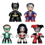 DC Universe Mini Mez-Itz  Figures Box Set. This fan favorite five-pack features: Batman- The caped crusader Superman-The man of steel Wonder Woman- The Amazon Warrior Green Lantern- Defender of Earth Harley Quinn- Gothams Clown Princess Of Crime!