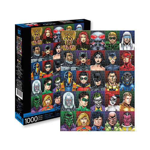 DC Comics Faces 1000 Piece Puzzle.