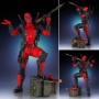 Marvel Comics 1:8th Scale Deadpool Collectors Gallery Statue. The Deadpool Collectors Gallery Statue has been digitally sculpted, and hand-painted by the amazing artisans of Gentle Giant Studios. This 1:8 scale statue of Deadpool features his signature sw