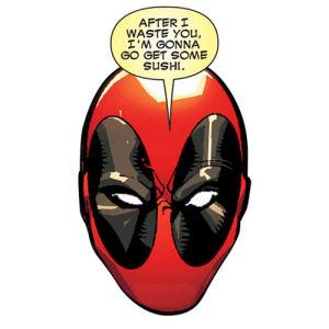 Deadpool Head Sushi Funky Chunky Magnet