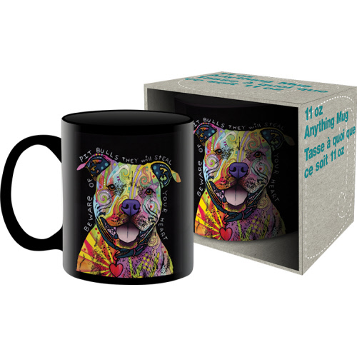 Dean Russo Beware of Pit Bull 11 Ounce Boxed Mug.