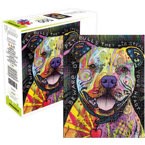 Dean Russo Beware Pit Bull AS 500 Piece Puzzle.