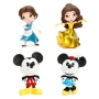 Disney 4 Inch Metals Die-Cast Metal Action Figure Wave 1 Case. Case contains 4 individually packaged figures - 1 Provincial Belle - 1 Belle in gold gown - 1 Mickey Mouse - 1 Minnie Mouse.