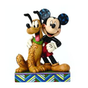 Mickey Mouse and Pluto Disney Traditions Statue