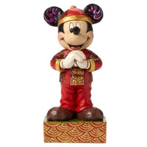 Disney Traditions Mickey Mouse Greetings from China Statue