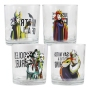 Disney Villains 10 Ounce Glass Set. Set Contains 4 glasses.