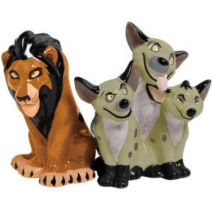 Disney Villains Scar and Hyenas Salt and Pepper Shakers