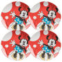 Disney Minnie Mouse 10 Inch Ceramic Plate Set of 4.