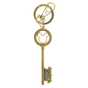 Mickey Mouse and Friends Master Key Gold Gemmed Key Chain