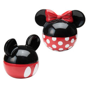 Mickey Mouse and Minnie Mouse Ceramic Salt and Pepper Shaker Set