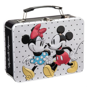 Disney Mickey Mouse and Minnie Mouse Lunch Box Large Tin Tote