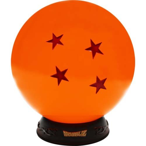 Dragonball Z Premium Lamp. Made of high-quality materials, this stunning lamp features the 4-star Dragon Ball sitting atop an embellished base. Powered by the included USB cable.