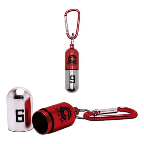 Dragonball Z Capsule (Rouge) Key Chain. This polished metal keychain is a replica from the series and great for storing cash and knick-knacks.