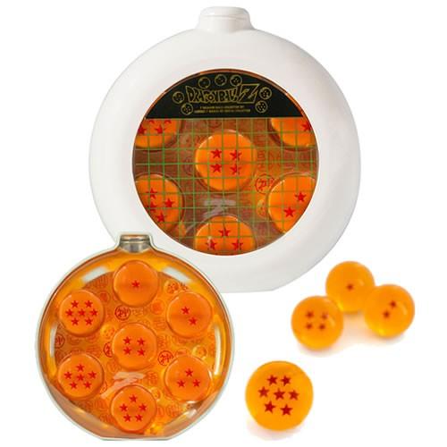 Dragonball Z Dragon Balls (Dragon Radar Metal Tin) Prop Replica. This replica set includes all 7 balls in a Dragon Radar-shaped tin that would make Bulma proud.