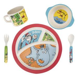 Dr. Seuss 5 piece Bamboo Dinnerware Set