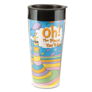 Dr. Seuss Oh the Places 16 Ounce Plastic Travel Mug