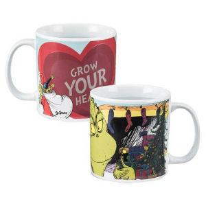 Dr. Seuss The Grinch 20 Ounce Heat-Reactive Ceramic Mug