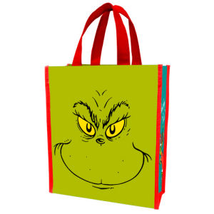 Dr. Seuss How the Grinch Stole Christmas Naughty or Nice Small Recycled Shopper Tote
