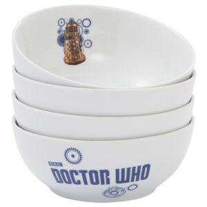 Doctor Who Ceramic Bowl 4-Pack Set