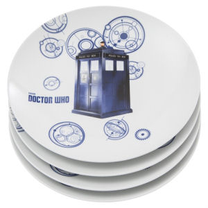 Doctor Who 10 Inch Ceramic Plate 4-Pack Set