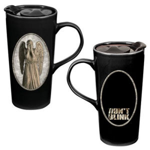Doctor Who Weeping Angel Heat Reactive Ceramic Travel Mug