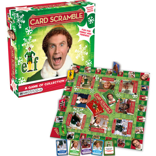 ELF Card Scramble Board Game.