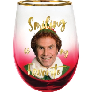 Elf Smiling is my Favorite Stemless Glass