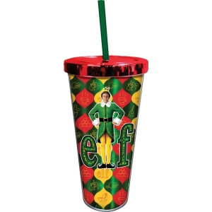 Elf Foil Cup with Straw