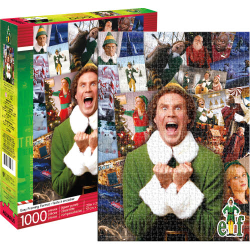 Elf Collage 1000 Piece Puzzle.