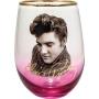 Elvis Stemless Wine Glass.