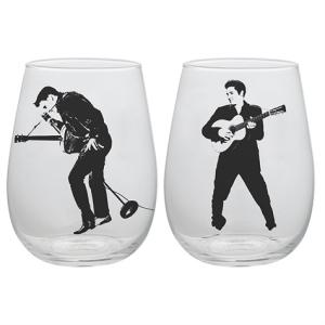 Elvis Presley 18 Ounce Contour Glass Tumblers 2-Pack