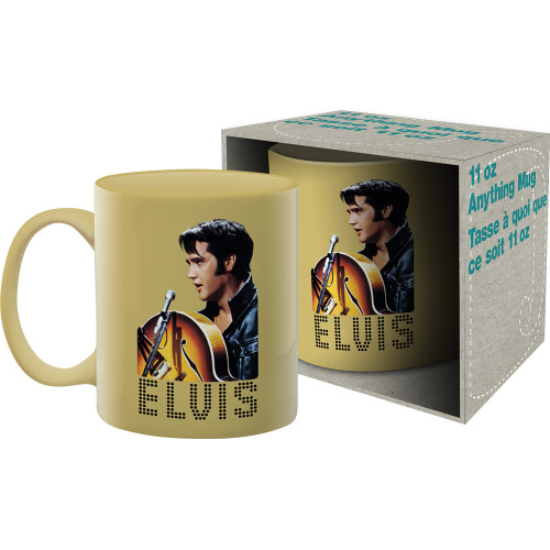 Elvis 1968 11 Ounce Boxed Mug.