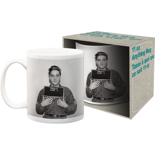 Elvis Enlistment Photo 11 Ounce Boxed Mug
